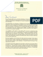 Hammond Resignation Letter