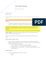 SAP HANA Import & Export Statements