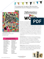 Alphamaniacs by Paul Fleischman Author's Note