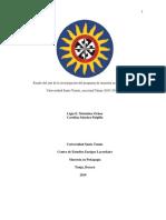 Estado Del Arte de La Investigación Del Programa de Maestría en Pedagogía de La Universidad Santo Tomás, Seccional Tunja (2013-2017)
