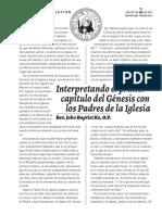 INTERPRETANDO EL GENESIS CON LOS PADRES DE LA IGLESIA
