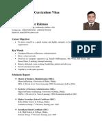 Ataur Rahman CV