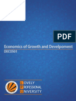 Deco501 Economics of Growth and Develpoment English