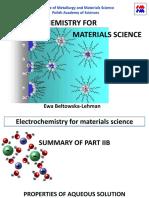 Electrochemistry for Materials Science.ewa Lehman