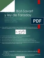 Ley de Biot-Savart y Ley de Faraday