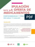 Manipulación en La Oferta de Medicamentos 0