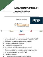 Indicación examen PMP