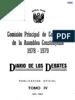 Diario de Debates 1978-1979. TomoIV