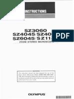 Olympus Sz30 Sz40 Sz60 Sz11 Instructions