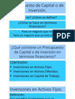 Presupuesto de Capital o de Inversión Proceso de Formación