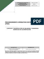 Procedimiento Operativo Estándar Limpieza y desinfección de balanzas y grameras - Servicios de Alimentación