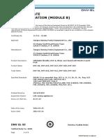 HNF-A25 Liferaft Type Approval Certificate