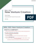 MSL305 New Venture Creation Practical V1 2 SH JH