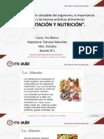alimentacion y nutricion , naturaeza 3° basico