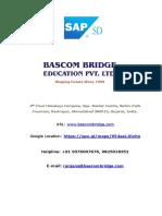 SAP SD Course Content