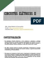 Aula 1 Circuitos Elétricos II - Tensão e Corrente Alternadas