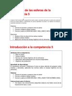 Desarrollo de Las Esferas de La Competencia 5