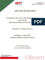 Informe Eventos Hoteleros Freddy Enriquez