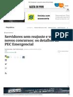 PEC Emergencial_ o Que Prevê o Texto de Paulo Guedes