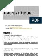 Aula 2 Circuitos Elétricos II - Fasores e Impedância