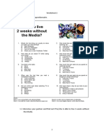 Media Consumption Worksheet