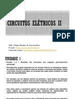 Aula 3 Circuitos Elétricos II - Análise de Circuitos Em Regime Permanente Senoidal