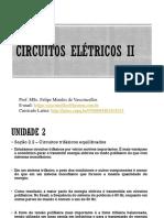 Aula 5 Circuitos Elétricos II - Circuitos trifásicos equilibrados