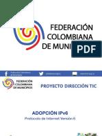 Presentación Adopción Ipv6 Cgo - Municipios - 2019 Ok