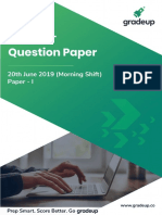 20 June 2019 Question Paper Morning Shift 21