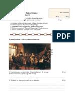 Test Wojny Dynastyczne i Religijne Grupa b