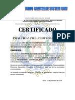 Certificado de Practicas Contables