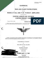 P-36 Operation and Flight Instruction