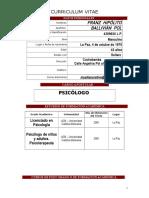 Curriculum Lic. Franz Ballivian Pol 2017