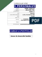Curriculum Lic. Franz Ballivian Pol 2018 Asesor