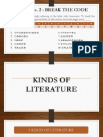 2. Forms and Genres of Literature