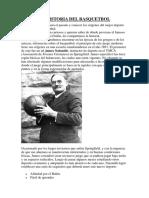 La Historia Del Basquetbol