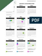 Calendario Laboral 2020 Comunidad de Madrid