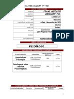 Curriculum Lic. Franz Ballivian Pol 2018 Institucion Educativa
