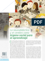 La Neurodidactica y El Cerebro Como Organo Social Para El Aprendizaje