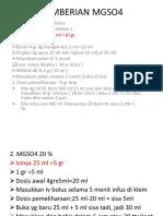 Pemberian Mgso4 Dan Alur Resusitasi Poned