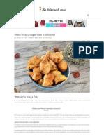 Masa Frita o _pittule_- Aperitivo Tradicional Del Sur de Italia