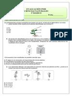 EVALUACIÓN PME CIENCIAS 3° BASICO II SEMESTRE