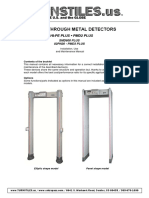TURNSTILES HI-PE Metal Detector Literature and Operation Manual