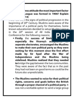 Was the Congress Attitude the Most Important Factor Why Muslim League Was Formed in 1906