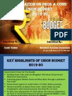 Budget Presentation (FY- 2019-20)