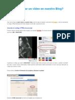 insertar video en Blogger