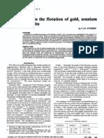 Conditioning in Flotation of Gold, Uranium, Pyrite