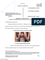Defendant Jamie Marchi's Motion to Determine Sanctions and Attorney's Fees