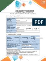 Guía de actividades y rúbrica de evaluación - Paso 3 - Aplicar Legislación Tributaria Colombiana.docx