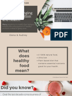 """Consumer's Attitudes Towards Nutrition and Health Are Changing. Many People Try to Modify Their Behavior Towards the Consumption of """"Healthy"""" Products Instead of Geasy. You Were the Marketing Manager of a Fast Food r (1)"""